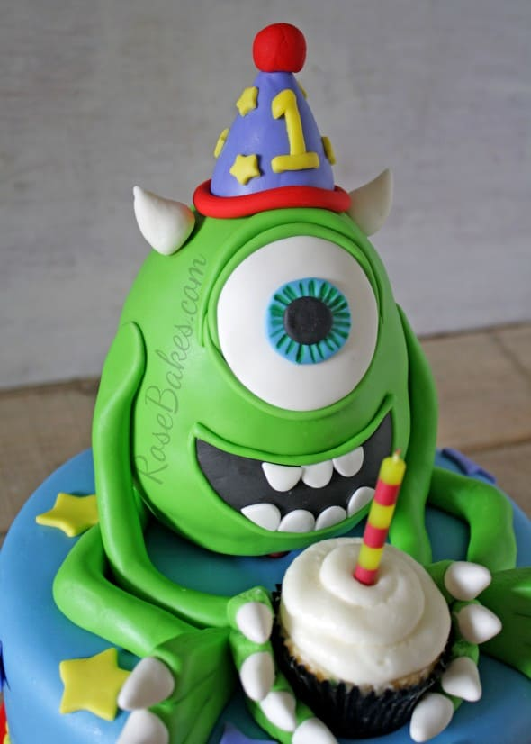 Mike Wazowski Monsters Inc Cake Rose Bakes