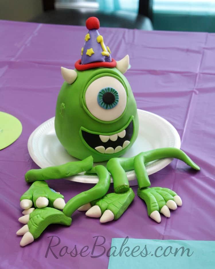 Pleasant Mike Wazowski Monsters Inc Cake Rose Bakes Funny Birthday Cards Online Kookostrdamsfinfo