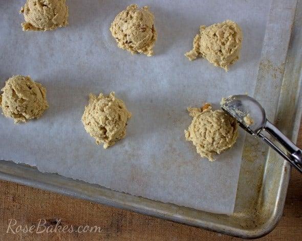 Oatmeal Cookies on Pan