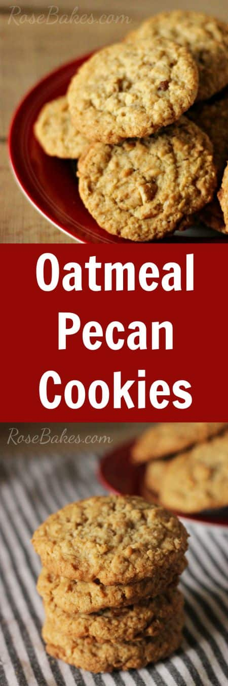 Oatmeal Pecan Cookies - Soft in the middle, crunchy around the edges... perfect!