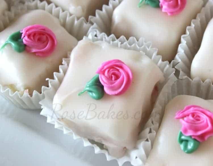 Petit Four Icing - Rose Bakes