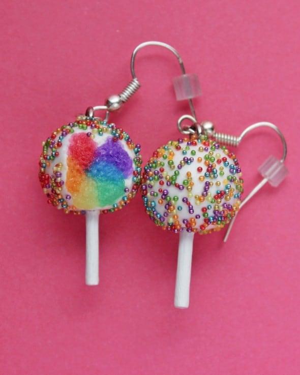 Rainbow Sprinkles Cake Pops Earrings