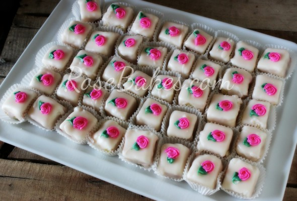 Raspberry Cream Cheese Petit Fours
