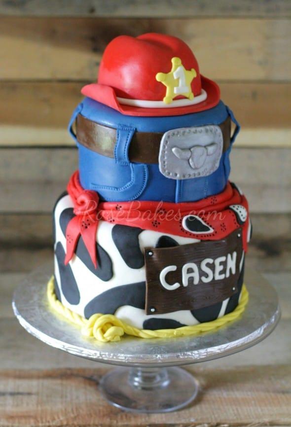 Red Cowboy Hat Western Cake