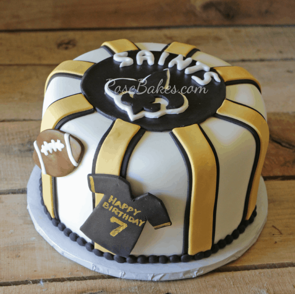 New Orleans Saints Birthday Cake Rose Bakes