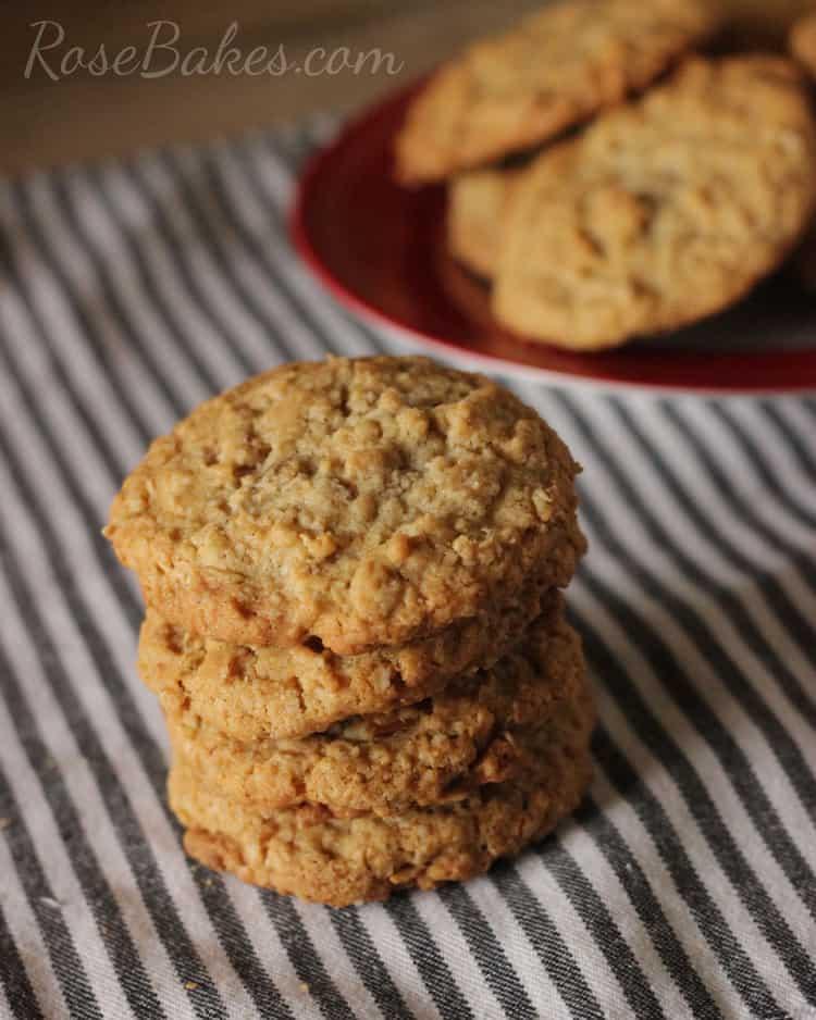 Stack of Oatmeal Pecan Cookies