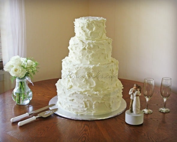White Rustic Buttercream Cake