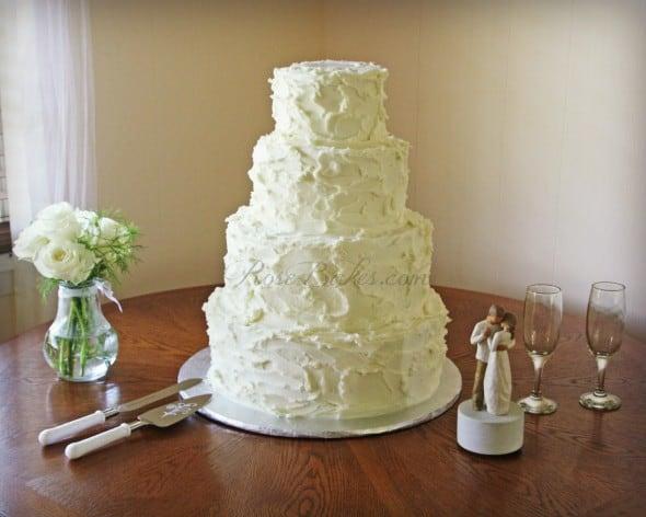 White Rustic Buttercream Cake