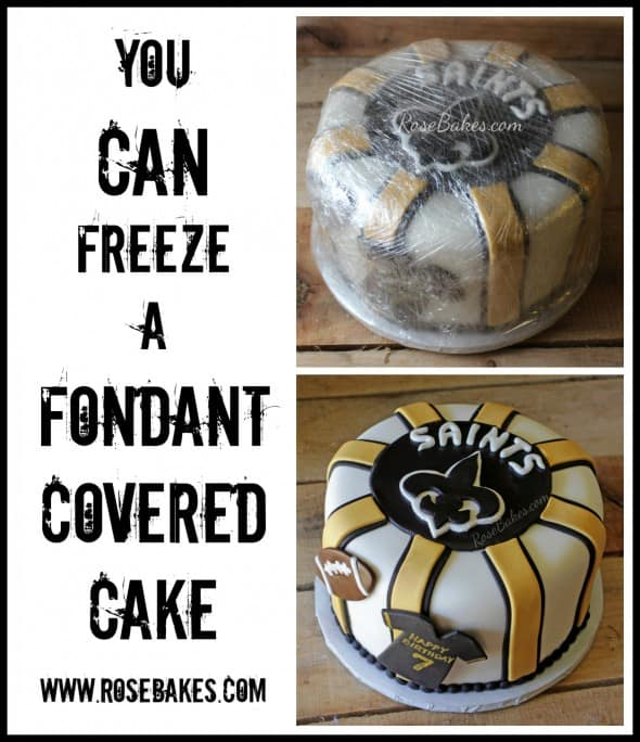 Can You Freeze A Fondant Decorated Cake Rose Bakes