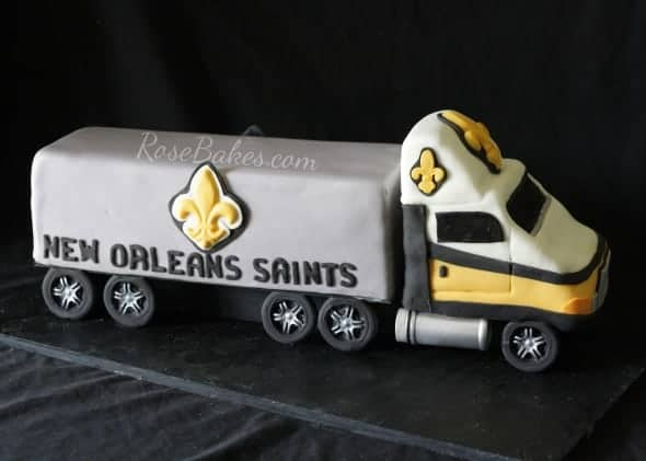 18 Wheeler Truck Cake