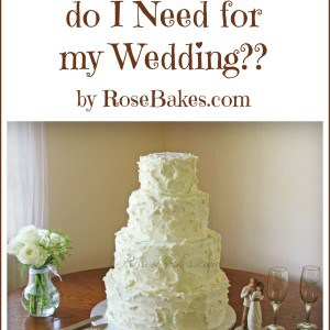 How Much Cake Do I need for My Wedding
