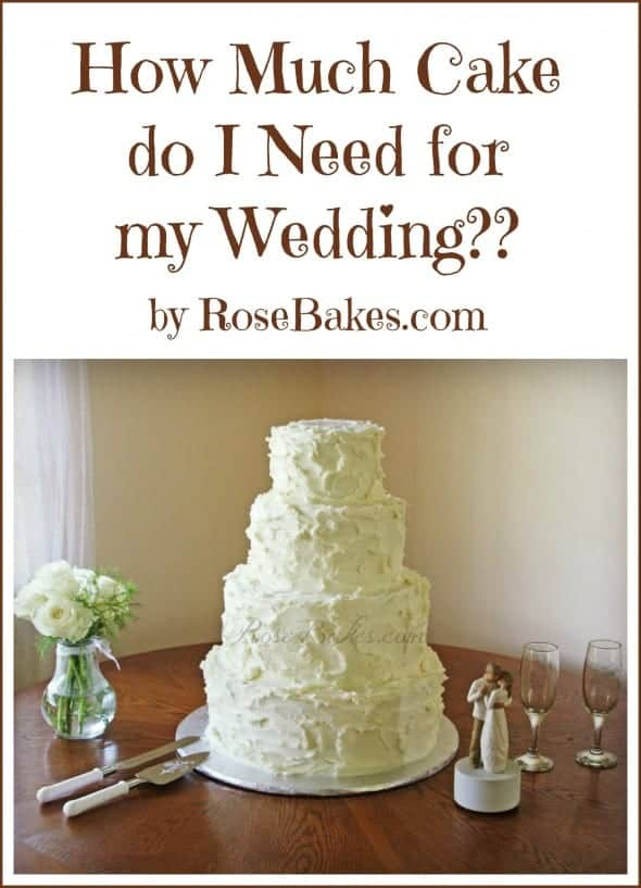 How Much Wedding Cake Do I Need For  Guests
