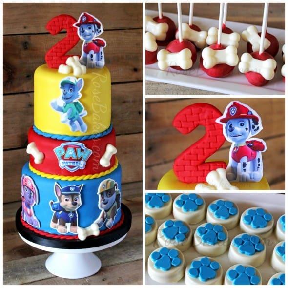 Paw Patrol Party Cake Cookies Oreos
