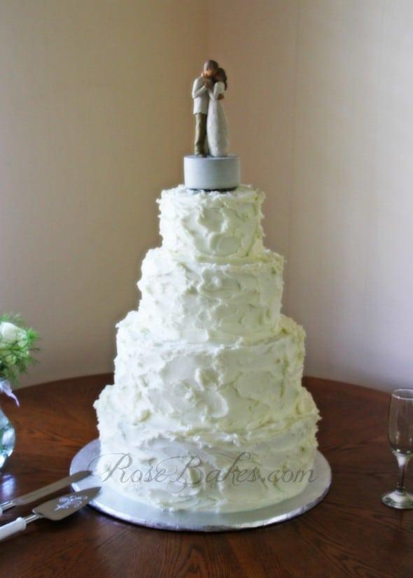Rustic Buttercream Weddign Cake
