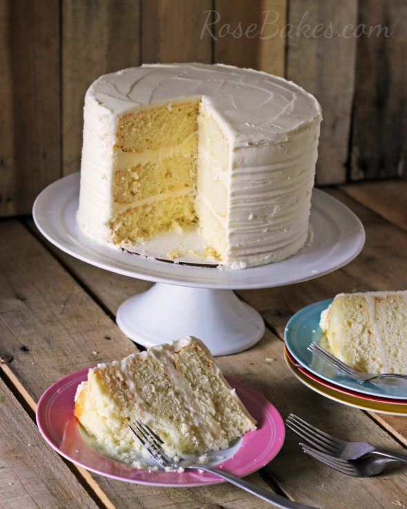 Sliced White Sour Cream Cake