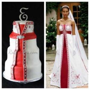 Wedding Dress Cake Collage