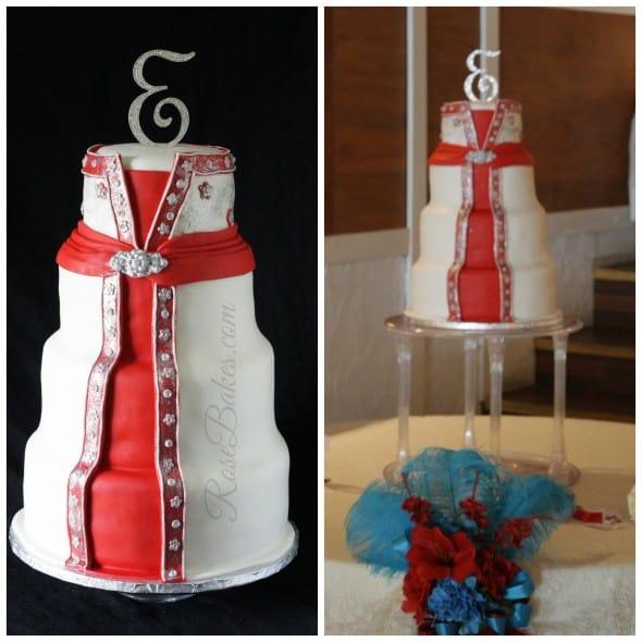 Wedding Dress Cake on Stand