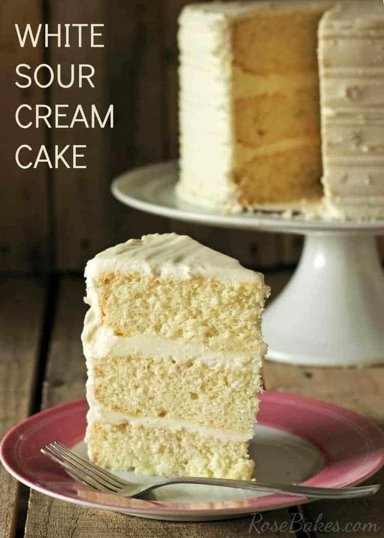 Whtie Sour Cream Cake WM