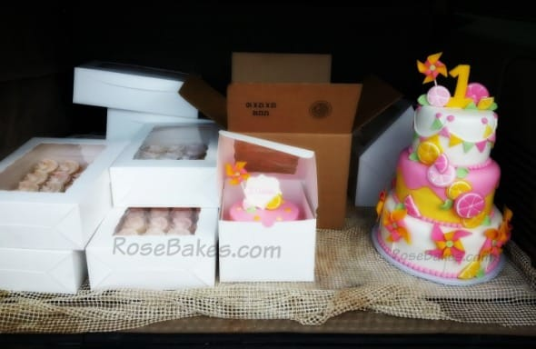 Boxed Cakes and Cupcakes Loaded in Truck