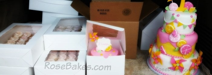 Small Boxed Cakes From Good Food Show