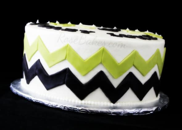 Chevron Baby Shower Cake Sm