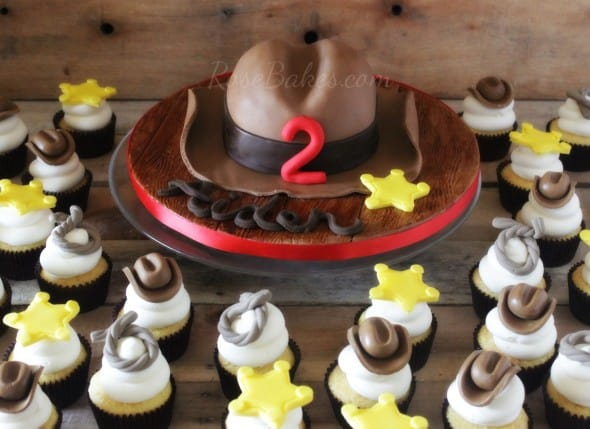 How To Make Cowboy Hat Cupcake Toppers Rose Bakes