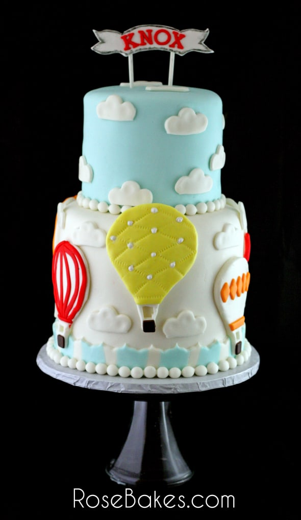 Hot Air Balloons Cake Smash Cake And Cupcakes Rose Bakes