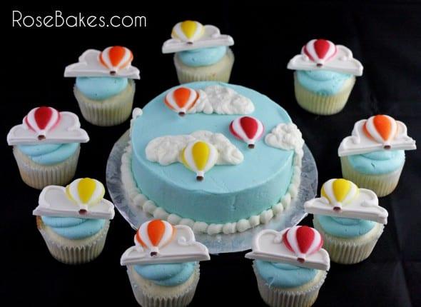Hot Air Balloon Smash Cake and Cupcakes