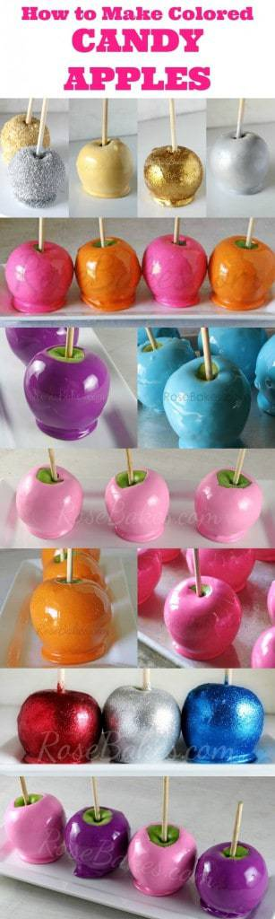 How to Make Colored Candy Apples