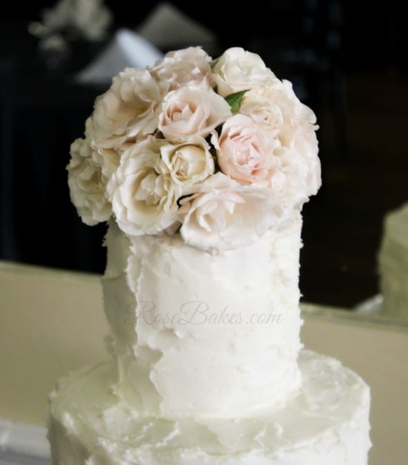 Pale Pink Roses Cake Topper