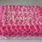 Pink Roses Sheet Cake