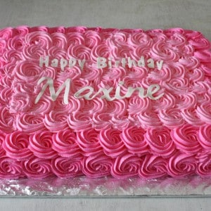 Pink Baby Shower Sheet Cake