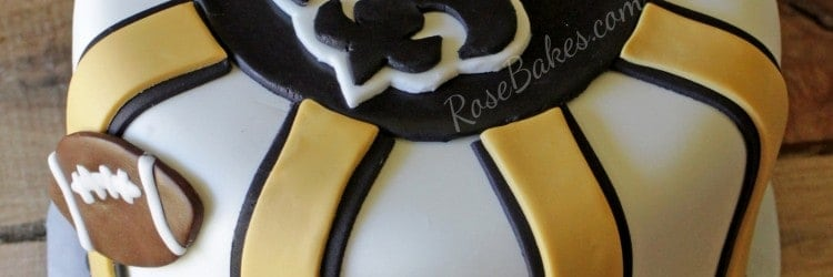 New Orleans Saints Birthday Cake