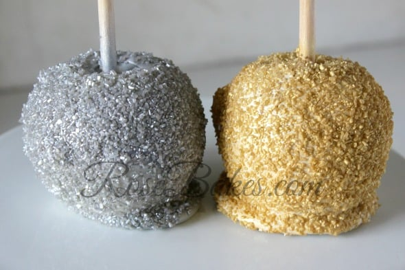 Silver and Gold Candy Apples