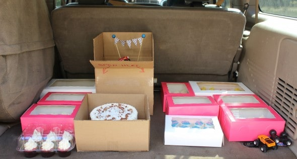 Truck full of cakes and cupcakes