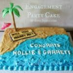 Beach Proposal Engagement Party Cake