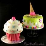 Cupcake and Ice Cream Cake