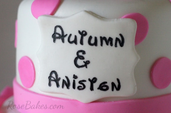 Disney Font on Cake