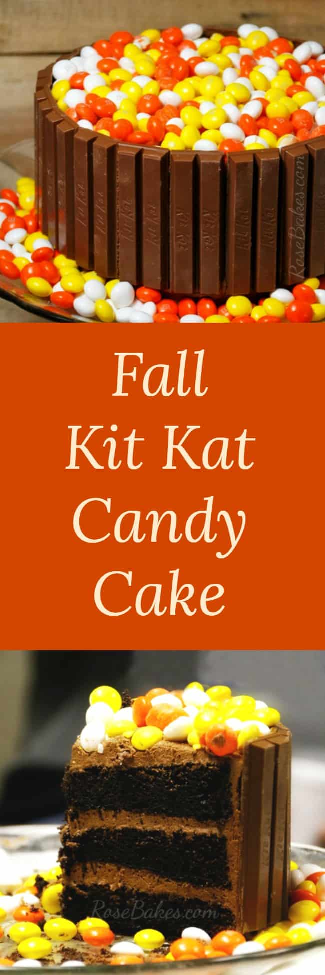 Fall Kit Kat Candy Cake by RoseBakes