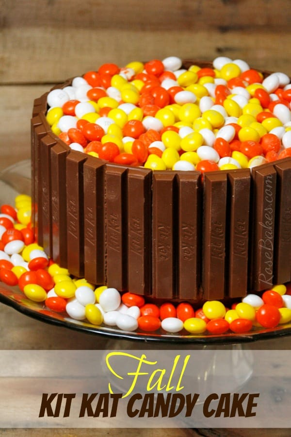 Fall Kit Kat Candy Cake