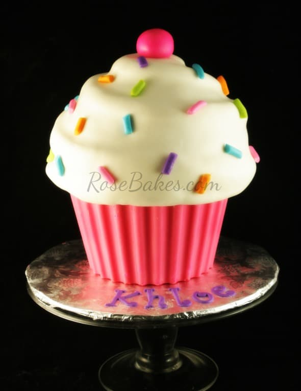 Big Cupcake Birthday Cake Recipe