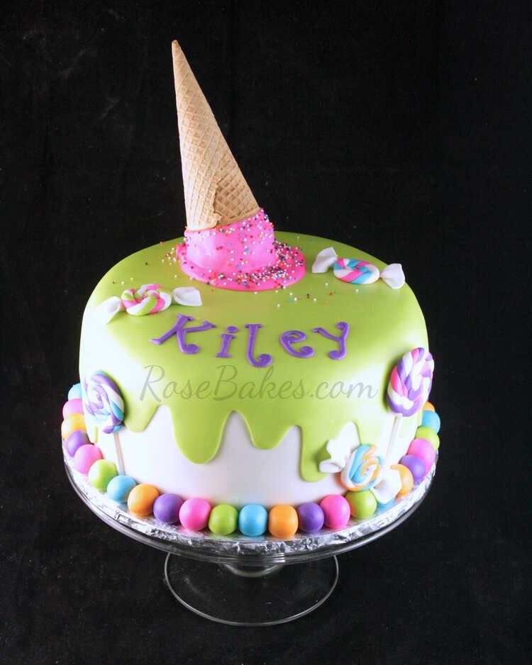 Ice Cream & Candy Cake