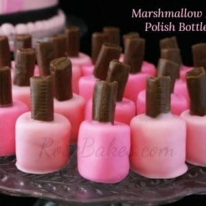 Marshmallow Fingernail Polish Bottles by RoseBakescom