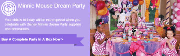 Click HERE for Minnie Mouse Dream Party Supplies