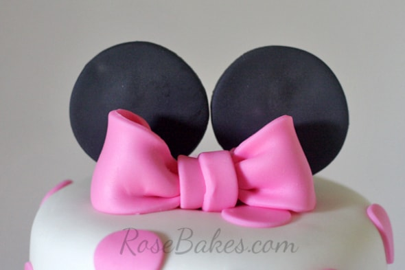Minnie Mouse Ears and Bow Cake Topper