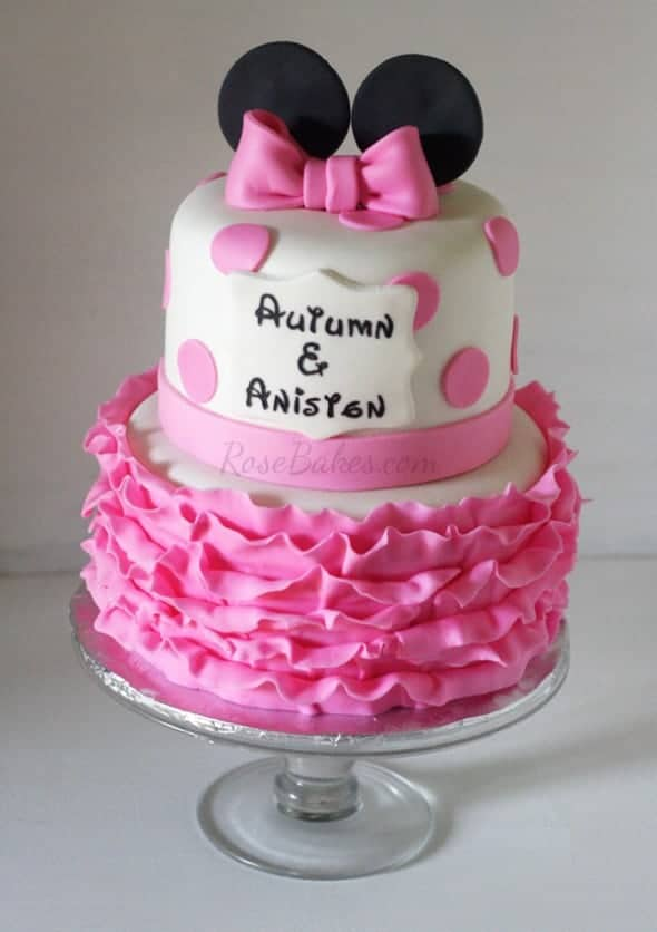 Minnie Mouse Ruffles Cake