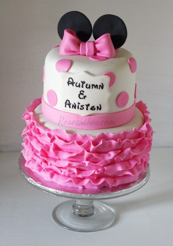 Minnie Mouse Pink Ruffles Cake Rose Bakes