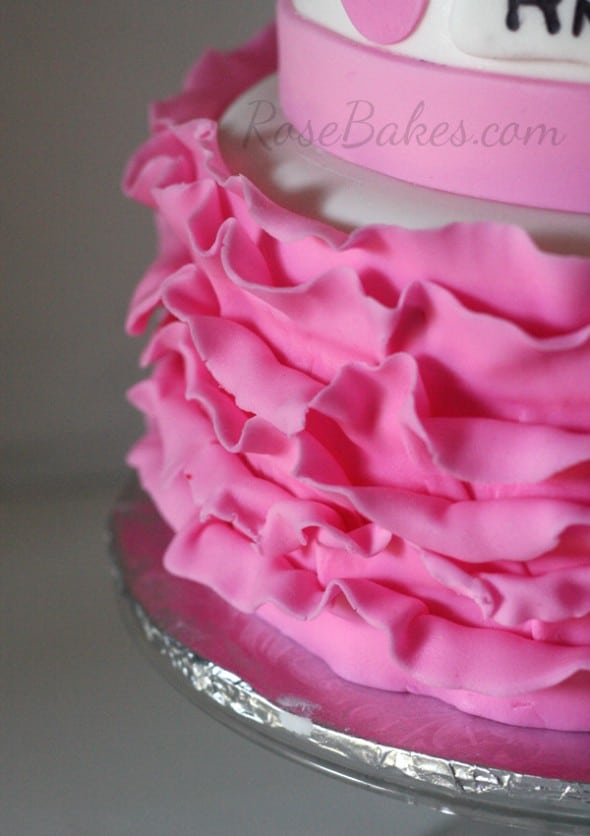 Pink Ruffles Minnie Mouse Cake