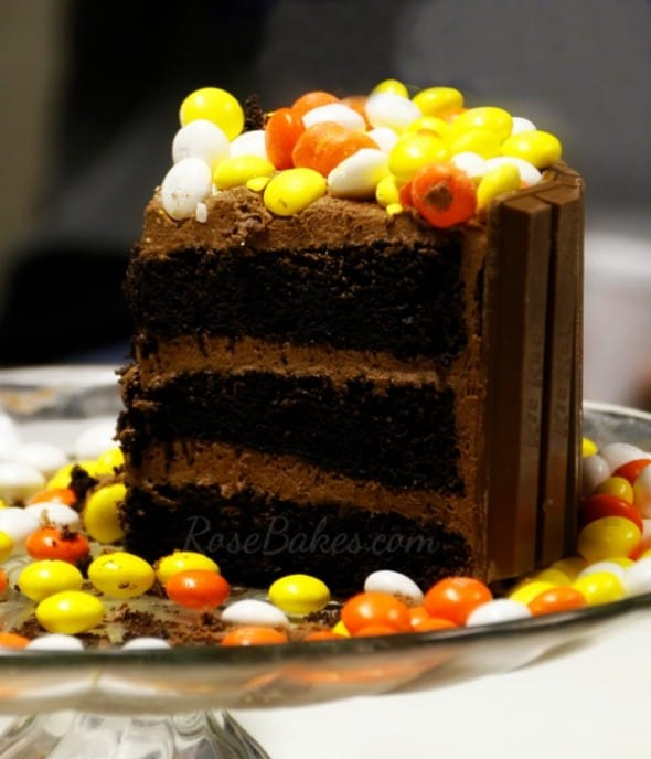 Slice of Fall Kit Kat Candy Cake