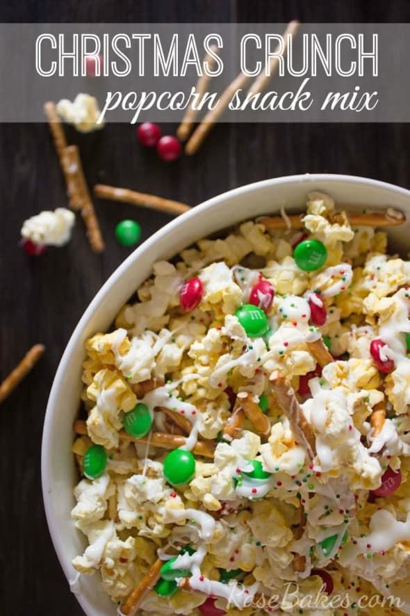 Christmas Crunch Popcorn Snack Mix